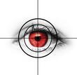 Rotes Auge im Visier