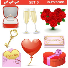Vector Party Icons Set 5