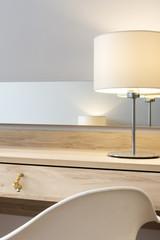 Detail of modern interior design bedroom