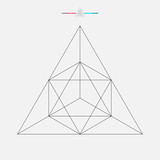 Geometric shape, vector triangle isolated