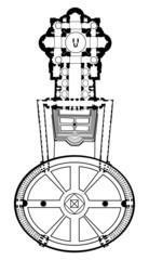 Basilica di San Pietro - disegno - architettura