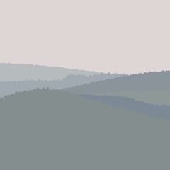 Gray landscape, vector illustration