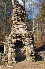 Old Stone Fireplace