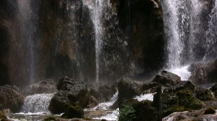 Pearl waterfall panorama from Jiuzhaigou national park in Sichua