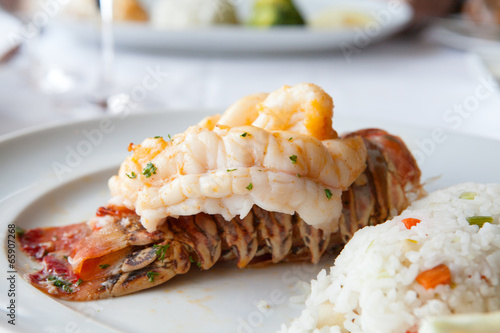 Deurstickers Schaaldieren Lobster
