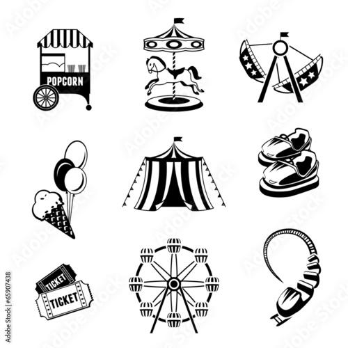Leinwanddruck Bild Amusement park elements