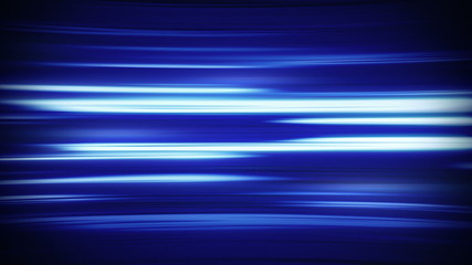 horizontal blue fractal lines loop background