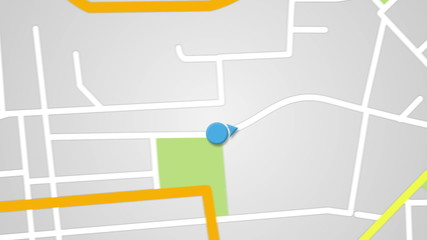 street map GPS navigator seamless loop