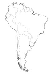 latin america borders