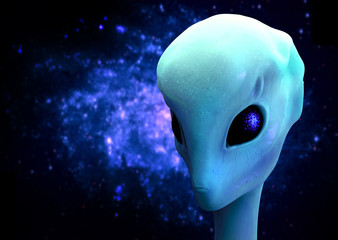 3d render of an alien, Extraterrestrial Visitor
