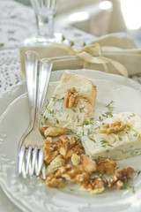 Stilton cheese and walnuts