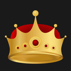Vector of Gold king crown in eps10