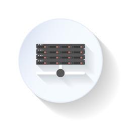 Server flat icon