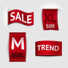 Clothing labels set