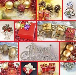 Collage de decoracion de navidad