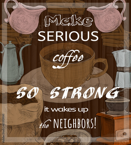 retro-zestaw-kawy-plakat