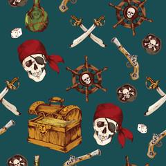 Pirates seamless pattern