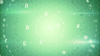 green abstract techno loopable background