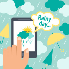 Weather smart phone rain