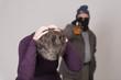 elderly woman under attack