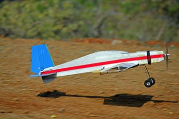 RC model airplane take off