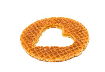 Dutch waffle called a stroopwafel