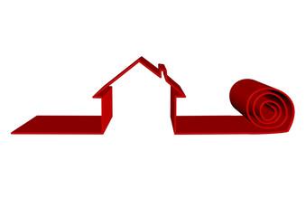 kırmızı ev rulosu