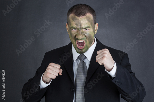Staande foto Angry businessman ready to fight