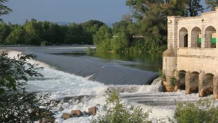 Lock on Isonzo River near Sagrado, Italy