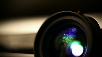 Home theater projector lens - very shallow DOF