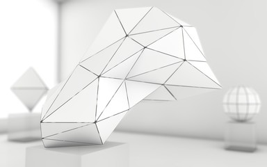 Abstract grayscale geometric shapes background