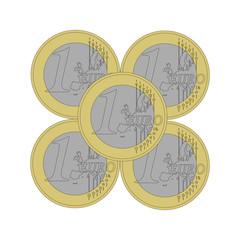 Pyramid 1 euro coins