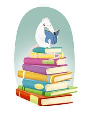 rata con libros