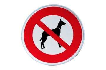 Panneau ' Espace interdit aux chiens '