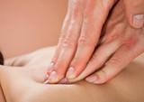 Fototapety Therapist Massaging Female Customer's Back At Spa