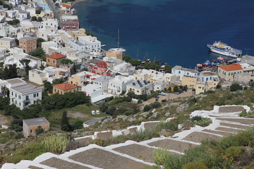 Blick auf Agia Marina - Leros, Griechenland