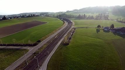 Luftaufnahme S-Bahn SBB