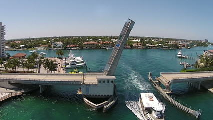 Drawbridge on the Florida Atlantic coastline
