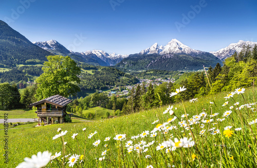 canvas print picture Scenic landscape in Bavarian Alps, Berchtesgaden, Germany
