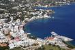 canvas print picture - Blick auf den Hafen von Agia Marina, Leros