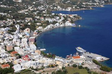 Blick auf den Hafen von Agia Marina, Leros