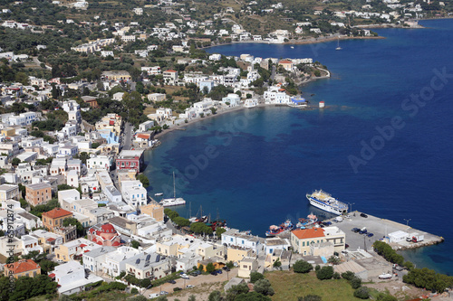 canvas print picture Blick auf den Hafen von Agia Marina, Leros