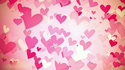 Love Shape Particles vintage looping blue background