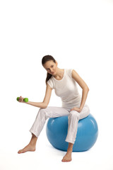 lady doing aerobic exercise with dumbbells39