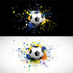soccer ball dash on colorful background, vector illustration
