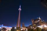 CN Tower and Toronto skyline - TORONTO, CANADA - MAY 31, 2014