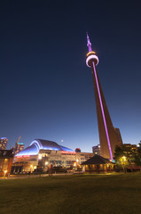 CN Tower and Rogers Centre - TORONTO, CANADA