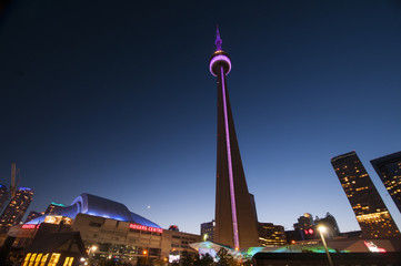 CN Tower and Rogers Center - TORONTO, CANADA