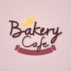 """Typo vector with word """"Bakery Cafe"""""""