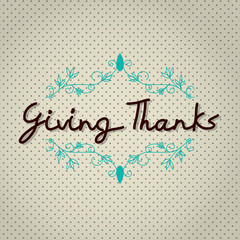 "Typo vector with word ""Giving Thank"""